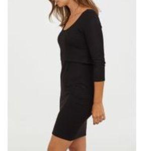 H&M MAMA MATERNITY NURSING DRESS BLACK